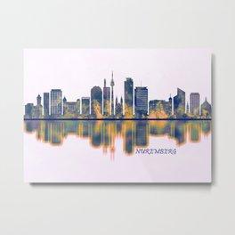Nuremberg Skyline Metal Print