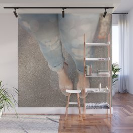 Nude Blue Wall Mural