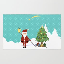 Santa Claus and gifts Rug