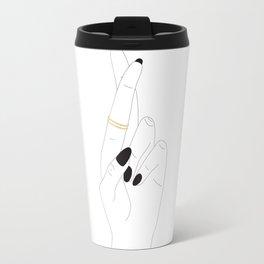 Fingers Crossed Travel Mug