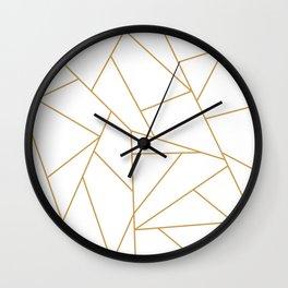 Geometric Gold Hexagon Pattern Wall Clock