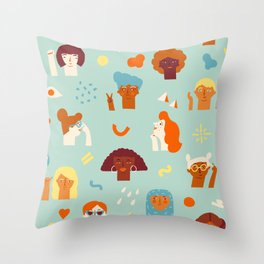 We are women Throw Pillow