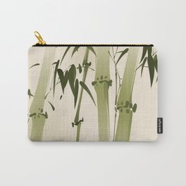 Oriental style painting, bamboo branches Carry-All Pouch