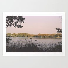 Banyoles Lake / I Art Print