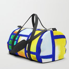 Art Deco Colorful Stained Glass Duffle Bag