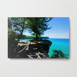 Chapel Rocks Tree Metal Print