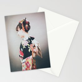 Woman japanese style Stationery Cards