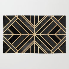 Geo Black Marble Dream Rug