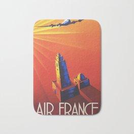 Vintage Africa Poster - Air France Bath Mat