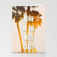 west coast Stationery Cards featuring WEST COAST by Jack Stobart
