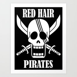 Red hair pirates Art Print