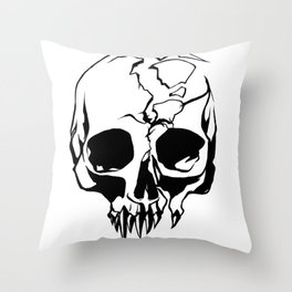 vampire skull Throw Pillow