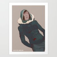 the legend of korra Art Prints featuring Korra by Alex Alarcon
