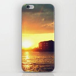 Lake House Sunset iPhone Skin