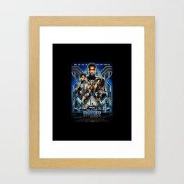 Black Panther movie Poster Framed Art Print