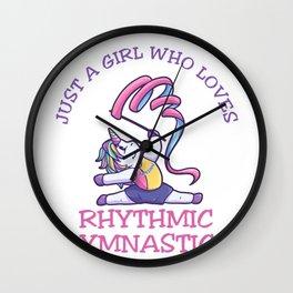 Just A Girl Who Loves Rhythmic Gymnastics Wall Clock