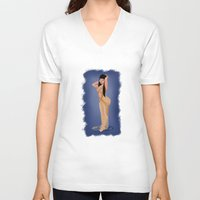 minaj V-neck T-shirts featuring Gold by marcsaisofficial