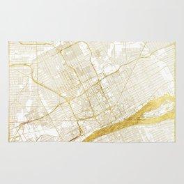 Detroit Map Gold Rug
