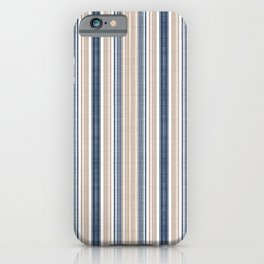 Nautical stripe iPhone Case