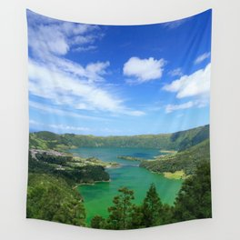 Lakes in Azores Wall Tapestry