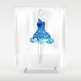 Fashion Illustration Shower Curtain