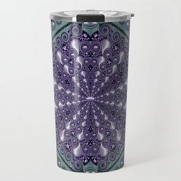 Star and flower mandala in wonderful colors Travel Mug