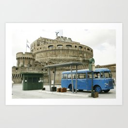 Castel Sant Angelo between past and present in color Art Print