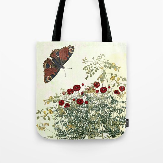 Shaking the wainscot where the field mouse trots Tote Bag