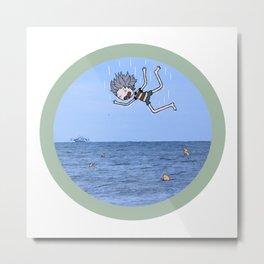 Ocean Flop Metal Print