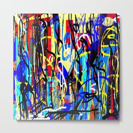 Etched Tales of the World, Abstract Design Metal Print