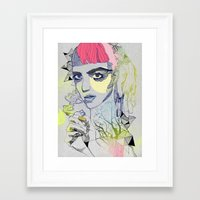 grimes Framed Art Prints featuring Grimes by Jasmine Jean