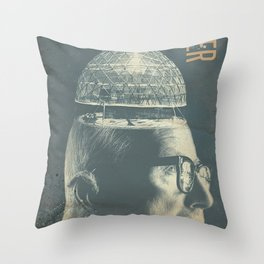 Buckminster Fuller Poster Throw Pillow