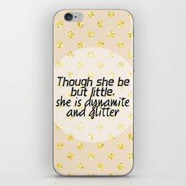 421 Dynamite and Glitter iPhone Skin