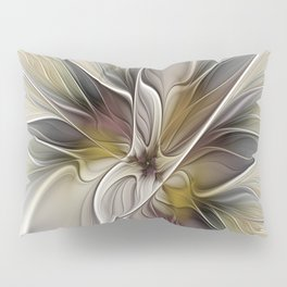 Floral Abstract, Fractal Art Pillow Sham