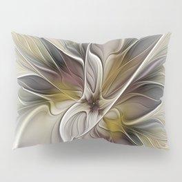 Floral Abstract, Fractal Art Pillow Sham