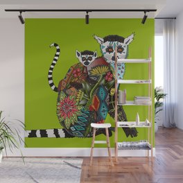ring tailed lemur love lime Wall Mural