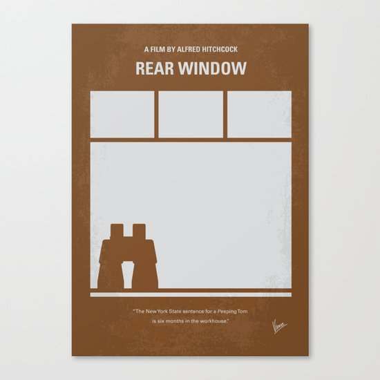 No238 My Rear window minimal movie poster Canvas Print