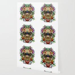 Pitbull Sugar Skull - Dias De Los Muertos Wallpaper