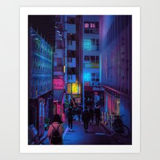 Shibuya Nights / Bouncing Lights Art Print