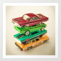 cars Art Prints featuring Cars by Carl Christensen