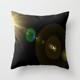 Sun lens flare Throw Pillow