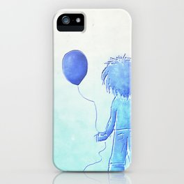 Lost childhood (boy with globe) iPhone Case
