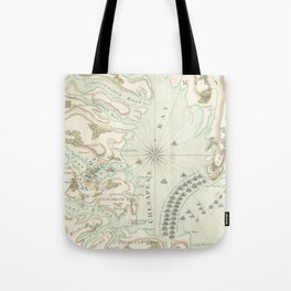 Vintage Map of The Battle of Yorktown (1781) Tote Bag