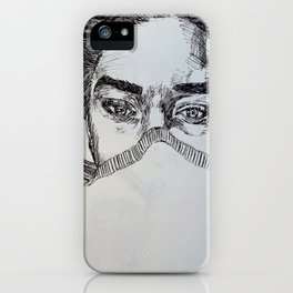 Sleepy Eyes iPhone Case