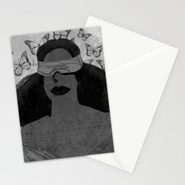 A Burst of Butterflies [Black & White] Stationery Cards