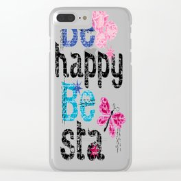 be happy be sta Clear iPhone Case