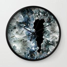 Blue Crystal Photography | Earthy | Precious Stone Wall Clock