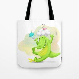 Slippery gator Tote Bag