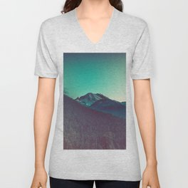 Mt. Olympus in Olympic National Park Unisex V-Neck