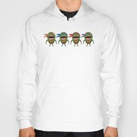 turtles Hoodies featuring Screaming Turtles by That Design Bastard